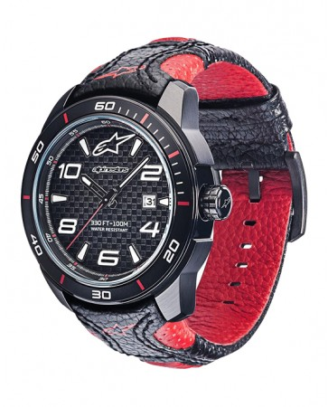 TECH WATCH 3H LEATHER STRAP