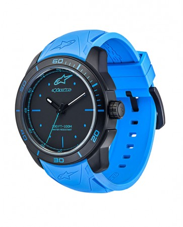 TECH WATCH 3H BLACK CASE-BLACK/BLUE