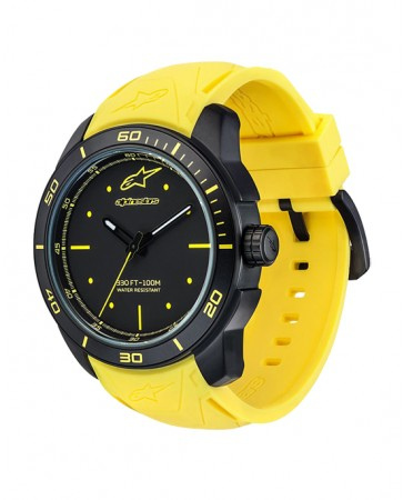 TECH WATCH 3H BLACK CASE-BLACK/YELLOW